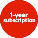 One-year subscription (domestic shipping)