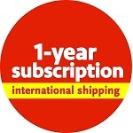 One-year subscription (international shipping)