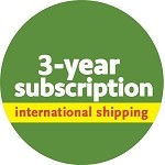 Three-year subscription (international shipping)